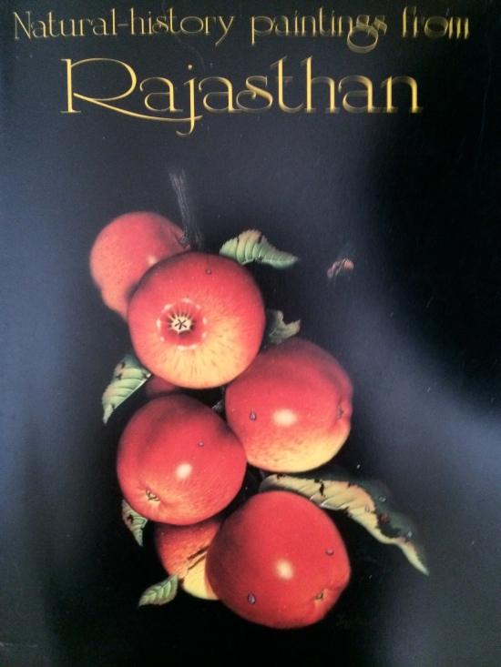 "Book jacket of exhibition catalogue published by Hunt Institute for Botanical Documentation, Carnegie Mellon University, 1994. Cover, by Jaggu Prasad, is titled ""Cluster of Apples with Insects."""