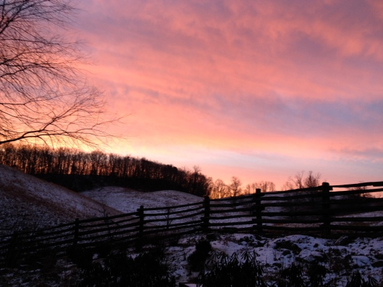 Sunset in Vinegar Hollow, Highland County, Virginia.
