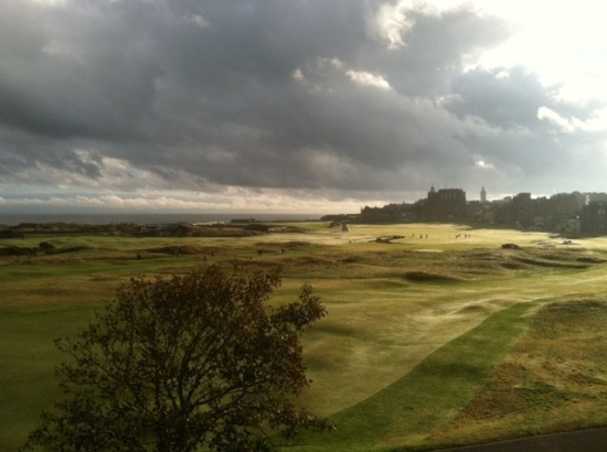 The historic golfing landscape of the Old Course at St. Andrew. (Photo credit: David Fernandez)