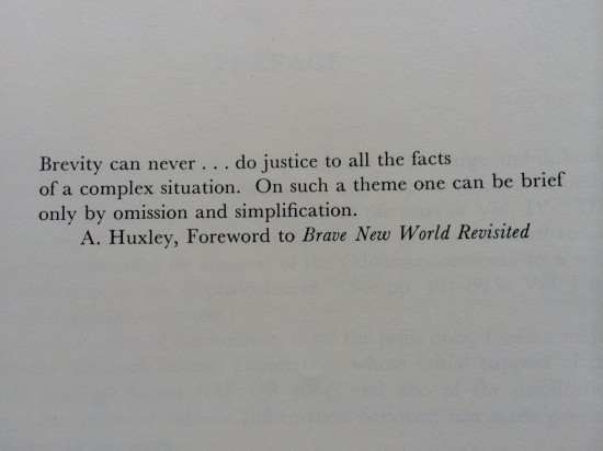 Quote in the prefatory material to Volume III.