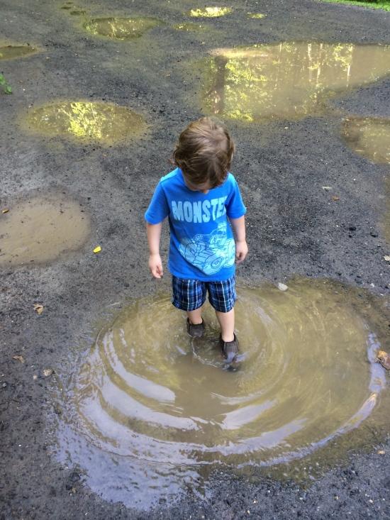 The joy of wet, soggy feet.
