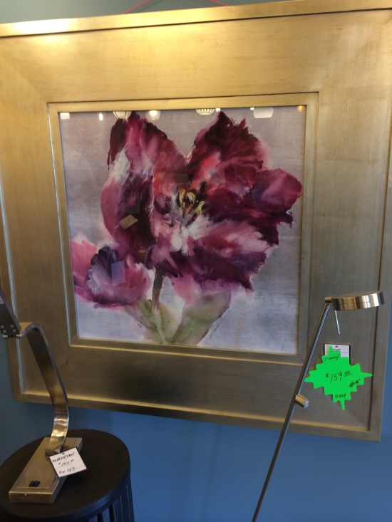 The naturalist occasionally has to do mundane errands, like choosing a new lighting fixture for the kitchen, all the while thinking about Elaine Scarry's ideas about beauty replicating itself--and there was a painting of a black parrot tulip for sale!