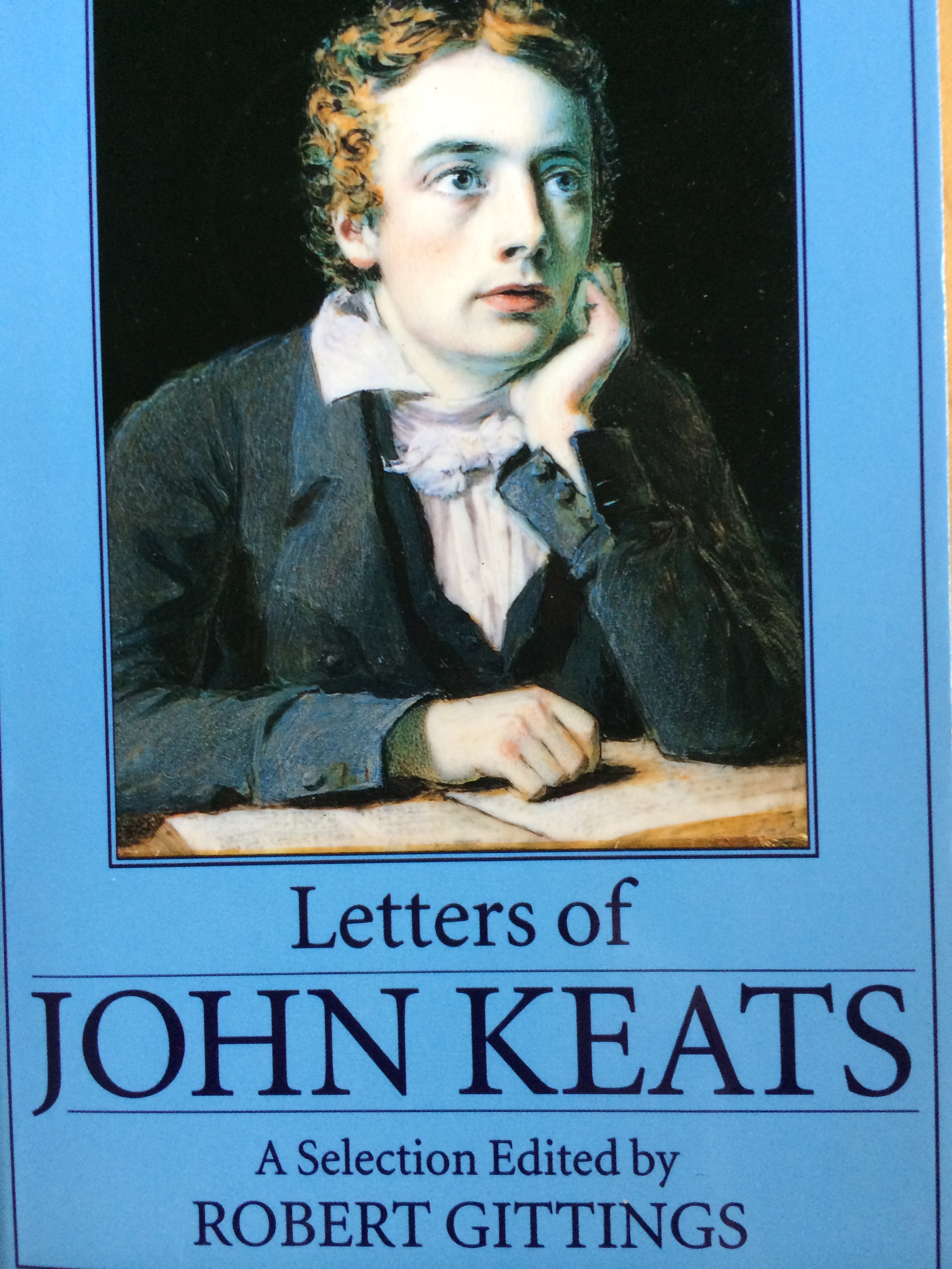 My copy of Keats' Letters.